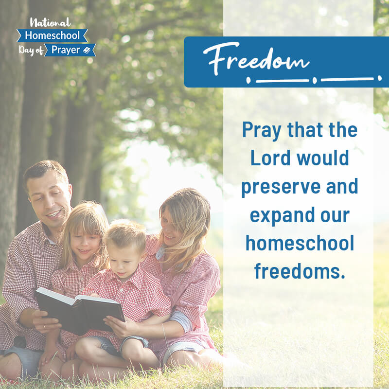 2020 National Homeschool Day of Prayer - Prompt 2 - Freedom